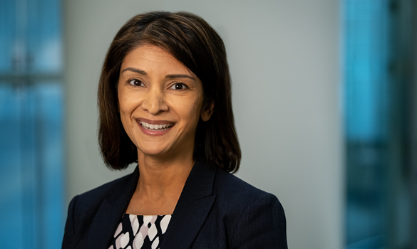 A photograph of Ramona Sequeira, president of Takeda Pharmaceuticals U.S.A., Inc, and Treasurer of PhRMA's Board of Directors